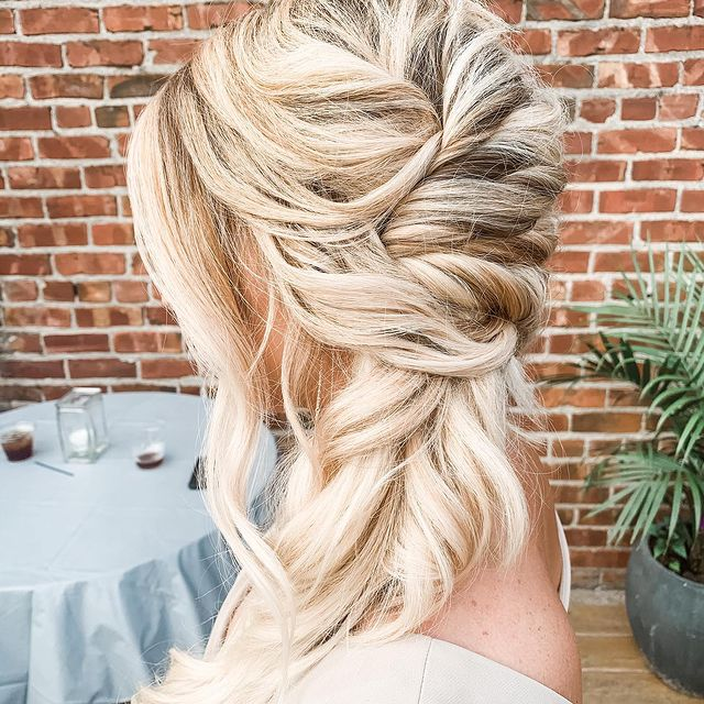 Hair Style Done For Wedding